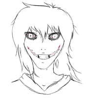 Jeff The Killer - First Time Sketch by SlaveDan