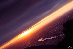 evening above heidelberg by hermik