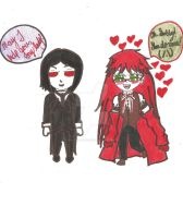 Sebastian and Grell Paperchild by 564223gurl