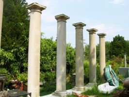 Old Colums stock 1 by FairieGoodMother