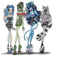 Ghouls Night Out Vertae,Liana,Satin and Crafty by TheCraftRaccoon