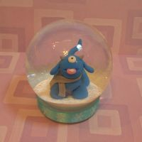 Timid Monster Pet Snowglobe by TimidMonsters