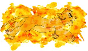 Simba Watercolor by jmascia