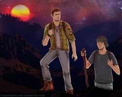 Sam and Dean Hiking by thehaydenclone