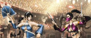 Kitana vs Mileena mkA poses by SrATiToO