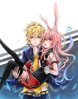 Izayoi and Black Rabbit by aionlights