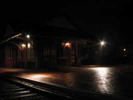 Nighttime at the Train Station by AiPFilmMaker