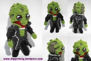 Mass Effect Thane Krios Amigurumi by diygeekess