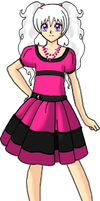 Ilya in a Cute Pink and Black Dress by Lyra-Elante