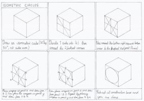 How to draw isometric circles by turnbuckle