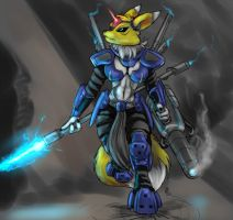 Armoured Renamon by s0lar1x
