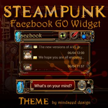 Steampunk Facebook Widget Theme for Android by mindseed-design