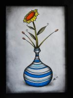 Flower and vase by MatsHenrik