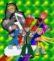Ben 10 and Power Pack by MCsaurus