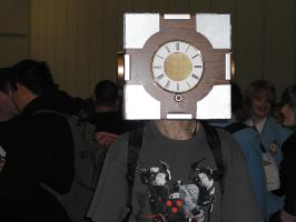 Steampunk Companion Cube by ajhockham