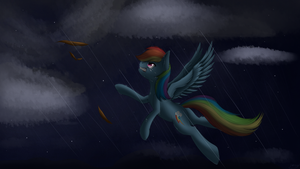 Rainbowdash's lack of despair by ImShySoIhide