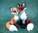 Fox Cake Topper by DragonsAndBeasties