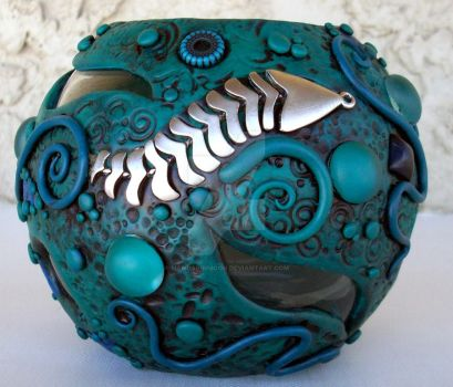 Aquatic themed Candle Holder by MandarinMoon