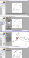 How to digitally color traditional art - Part 1 by mute-owl