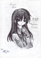 Tachibana Kanade 3 shadow sketch training by ArhNZaii