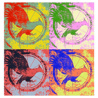 Mockingjay Popart by fionnaxfinn17