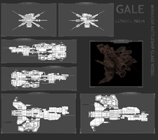 Gale - Minmatar Battleship by MoonredStarblack