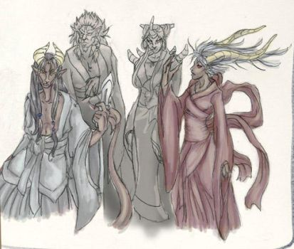 Group of monster people by bongoshock