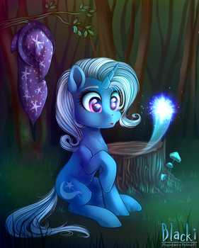 Trixie and a wisp by SunFlower-S