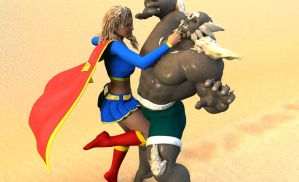 Doomsday vs Supergirl 9 by MickLee99