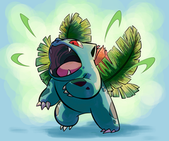 002-Ivysaur by lesuperspecial