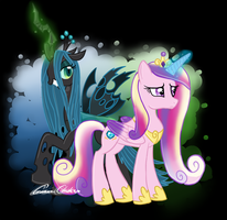 Princess Cadence and Queen Chrysalis by scr3aam3r
