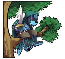 Water Demon in Tree by raizy