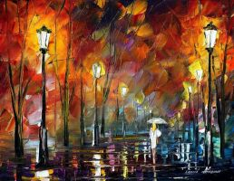 Late date by Leonid Afremov by Leonidafremov