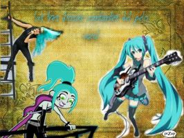 the three goddesses singers blue hair by DannyYSam