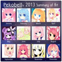 2013 art Summary by Pekobell