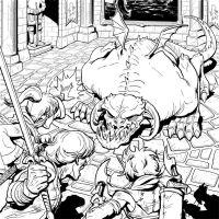 Good Intentions - pg 8 ink preview by genekelly