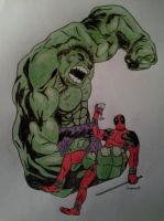 Deadpool and Hulk by Scutum20