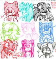 Emotion Sketches 1 by knuxrocks28