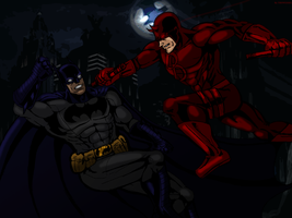 Batman VS Daredevil by Wessel
