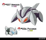 036 - 037: Poison Armor Fakemon by LeafyHeart