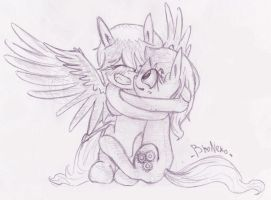 [Request] Cloud Flash and Bright Charm hugging by BroNeko