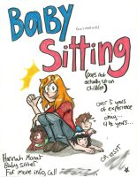 Baby Sitting Poster by Hamncheese95