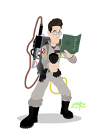 Ghostbusters - Egon by JackAbsinth