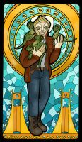 St. Christopher of the Velociraptors by elephantblue