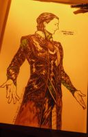 pen drawing LOKI by NsosDA