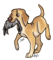 Hazel Duck Dog by DaggarHeart