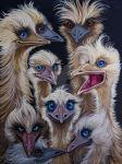 Wild and Wacky Blueyed Blonde Emus by HouseofChabrier