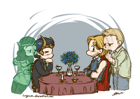 Thor/Loki Week - Day 2: Different Canons by caycowa