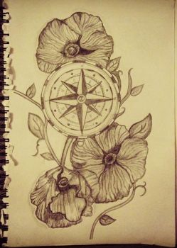 Direction and Poppies by daisymaydrawings