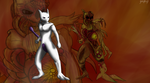 Infected... Mewtwo... by StarstrikeX